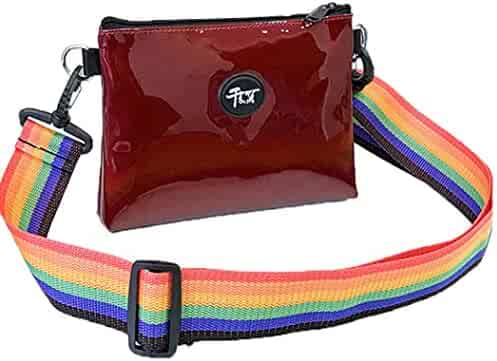 0603db7fef Yihaojia Leather Fashion Sequins Lnclined Shoulder Bag Mobile Phone Bag  Messenger Bag for Wemon (Red