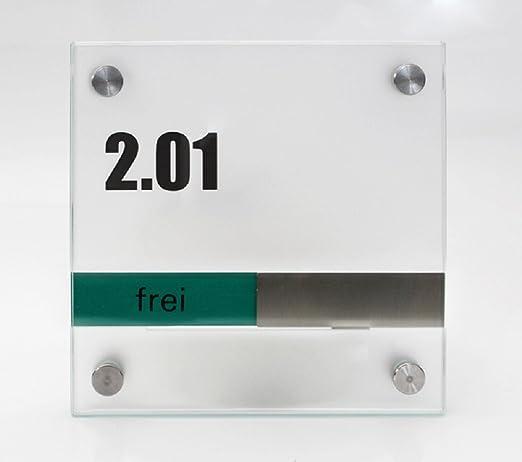 Puerta Cartel Sistema Cristal Line, con libre/Ocupados de ...