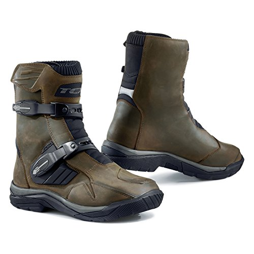 TCX Men's Baja Mid Waterproof Street Motorcycle Boots - Brown Size 43