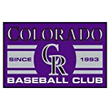 FANMATS 18467 Colorado Rockies Baseball Club Starter Rug