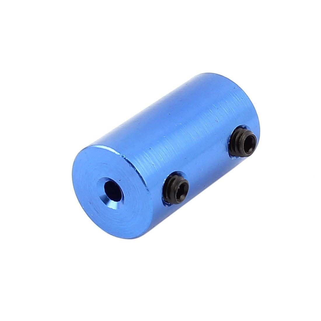 sourcing map 3mm a 6mm Bricolaje DIY motor Eje Acoplador Acoplamiento Aleaci/ón de Aluminio Azul