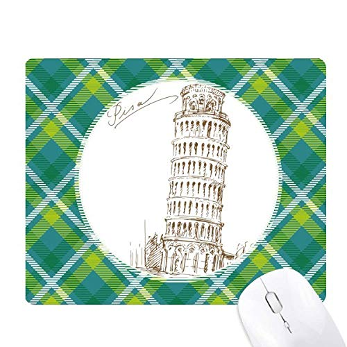 (Leaning Tower of Pisa Italy Pisa Green Lattices Grid Pixel Mouse Pad)