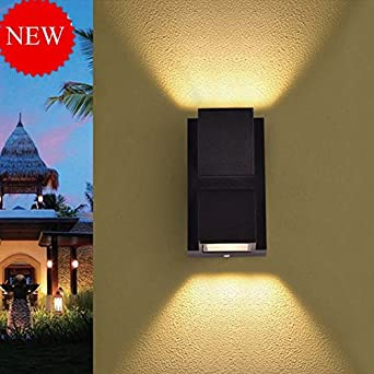 Glitz Up-Down Outdoor led Wall Light IP65, Warm White, Built-in OSRAM LED, Grey Aluminium die Casting Body, (6) Facade Light 2 x 3 watts Ceiling Lights at amazon