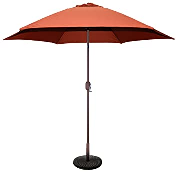 Superior TropiShade 9 Ft Bronze Aluminum Patio Umbrella With Rust Polyester Cover