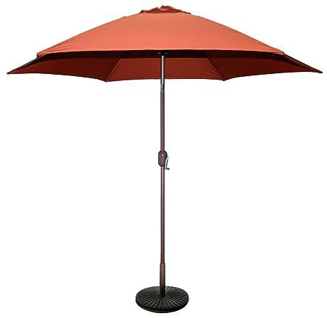 Superb TropiShade 9 Ft Bronze Aluminum Patio Umbrella With Rust Polyester Cover