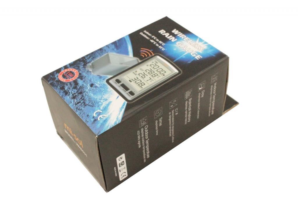 MISOL 1 set of wireless rain meter rain gauge w/ thermometer, Weather Station for indoor/outdoor temperature, temperature recorder