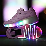 Nsasy YCOMI Girl's Boy's LED Light Roller Shoes