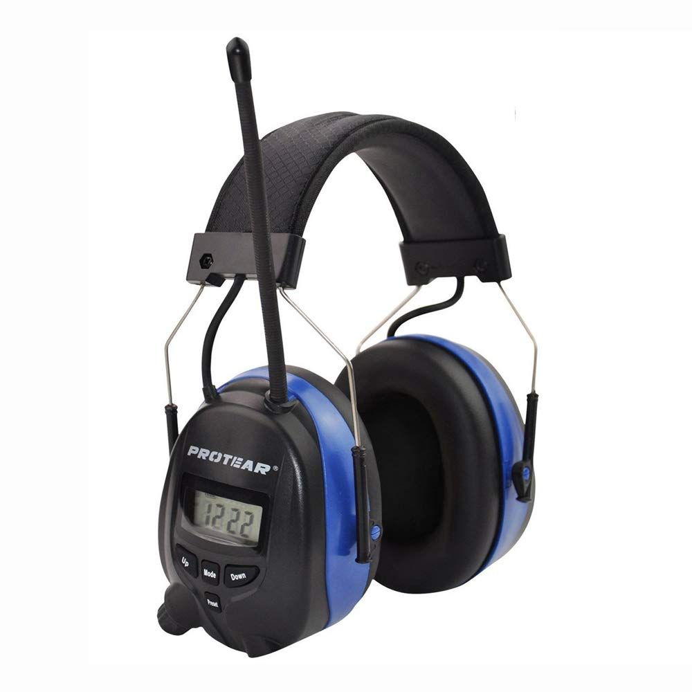 PROTEAR AM FM Bluetooth Radio Headphones Wireless Cancelling Headphones Built-in Mic Electronic Noise Reduction Safety Ear Muffs Protection for Lawn Mower Work