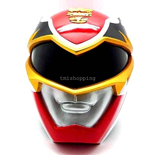 Megaforce Red Mighty Morphin Power Ranger 1:1 Party Costume Cosplay Helmet Mask