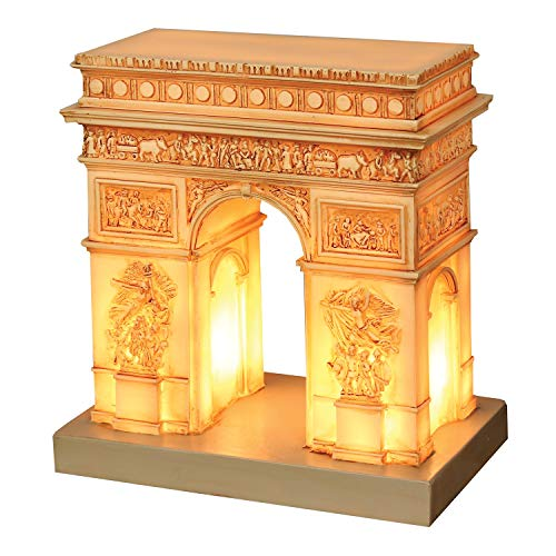 What On Earth Great Places Arc De Triomphe Table Lamp - French Champs Elysees Landmark Nightlight - 7.5