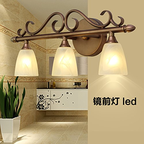 GYY Light Before The Mirror Lamp Led Continental Health Toilet Mirror Wall Lamps Retro Bedroom Light Cabinet