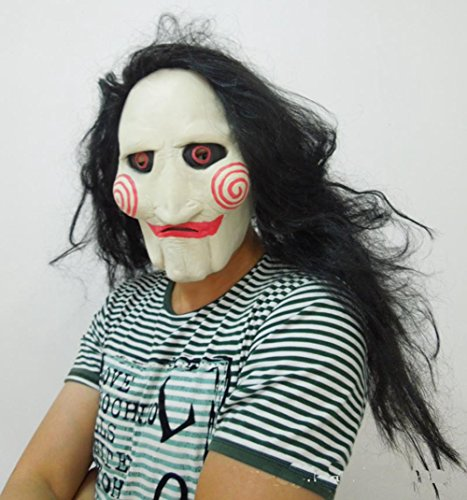 GlowSol Halloween Saw Chainsaw Killer Clown Bloodthirsty Madman Mask (Really Scary Halloween Costumes For Kids)