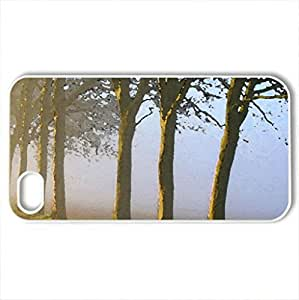 Autumn mist - Case Cover for iPhone 4 and 4s (Forests Series, Watercolor style, White)
