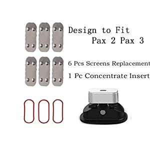 Zing O Concentrate Insert & 6 Screens Replacement Parts Accessories for Pax 2 & Pax 3