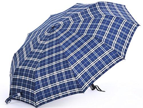Honeystore Taschenschirm Automatik Schirm 3 Falten Windschutz Kompakt Reisen Sonnnenschirm Marine
