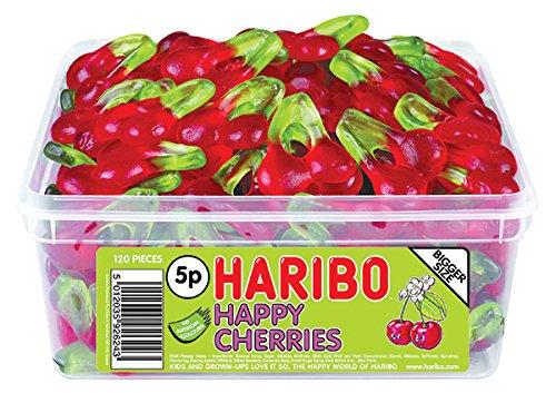 Gummi Twin Cherries - Haribo Happy Cherries 120 Tub