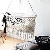 "Cradle Hanging Hammock for Baby Girl/Boy Pure Cotton Knit Baby Crib 90x55x34 cm/35""x21.6""x13.4"""