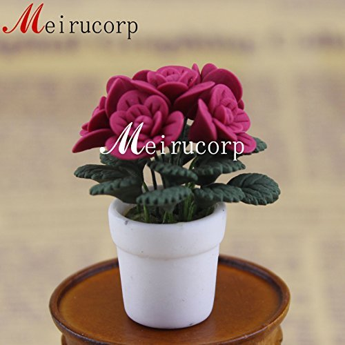1/12 Scale Grand Miniature Gorgeous Red Flower for Dollhouse