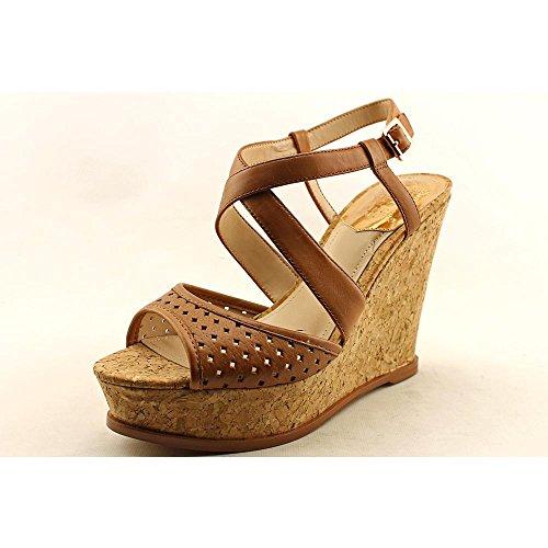 Vince Camuto Women's Ilario Wedge Sandal,Fudge/Natural,8.5 M US