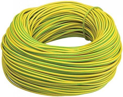 C/âble de terre en PVC avec gaine /électrique Vert//jaune Diff/érentes tailles et longueurs
