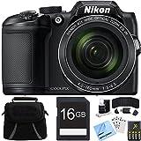 Nikon COOLPIX B500 40x Optical Zoom Digital Camera 16GB Bundle includes Camera, Bag, 16GB Memory Card, Reader, Wallet, AA Batteries + Charger, Screen Protectors, Cleaning Kit and Beach Camera Cloth