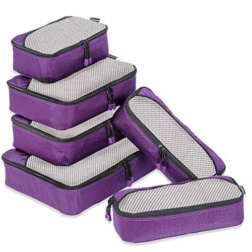 ZOMAKE 6 Set Packing Cubes for Travel - Lightweight Luggage Packing Organizer Travel Accessories (Best Travel Cubes For Backpacking)