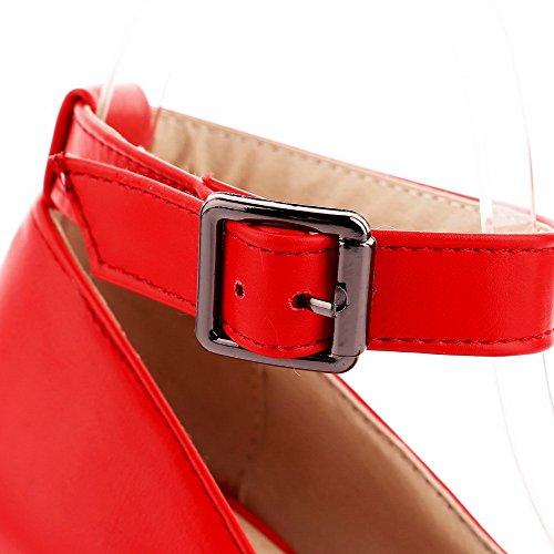 Fibbia Scarpe Chiusa Voguezone009 A Puro Tacco Rosso Punta Ballerine Spillo Donna Tw8qZfU