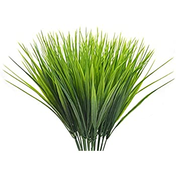 Amazon 2 x 15 ornamental grass artificial plants without 4pcs artificial plants faux plastic wheat grass fake leaves shrubs simulation greenery artificial flowers bushes workwithnaturefo
