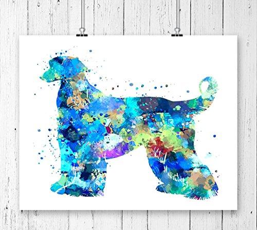 Afghan Hound Watercolor Art Print, Dog Art Print, Archival Art Print,Wall Decor,Wall Art, Watercolor Art, Kids Room Decor ( UNFRAMED)