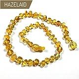 Hazelaid (TM) 14'' Pop-Clasp Baltic Amber Lemon Necklace