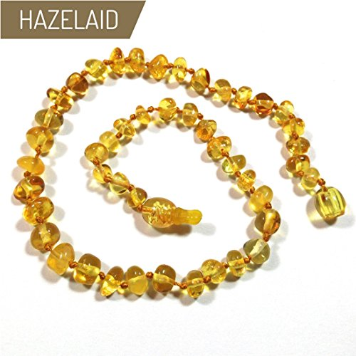 Hazelaid (TM) 11'' Pop-Clasp Baltic Amber Lemon Necklace by Hazelaid