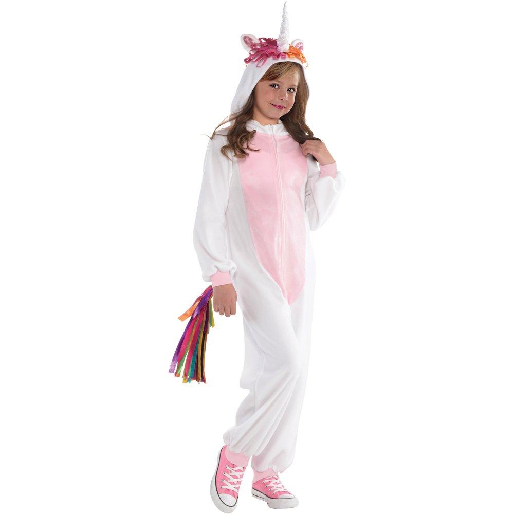 SPUNICOS Unicorn Onesie Costume Made of Fleece Halloween Unicorn Costume for Kids