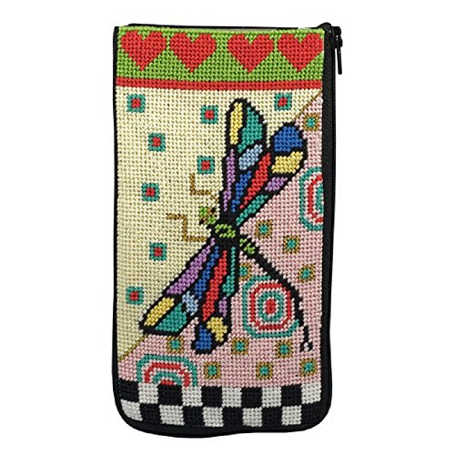 - Eyeglass Case - Dragonfly - Needlepoint Kit