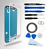 SAMSUNG GALAXY S3 i9300 I747 T999 I535 WHITE DISPLAY TOUCHSCREEN REPLACEMENT KIT 12 PIECES INCLUDING 1 REPLACEMENT FRONT GLASS FOR SAMSUNG GALAXY S3 / 1 PAIR OF TWEEZERS / 1 ROLL OF 2MM ADHESIVE TAPE / 1 TOOL KIT / 1 MICROFIBER CLEANING CLOTH / WIRE