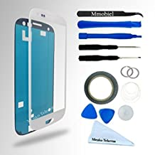 Front Glass for Samsung Galaxy S3 / S3 Neo i9300 i9301 Series White Display Touchscreen incl 12 pcs Tool Kit / Pre-cut Sticker / Tweezers/ Roll of 2mm Adhesive Tape / Suction Cup / Metal Wire / Microfiber cleaning cloth MMOBIEL