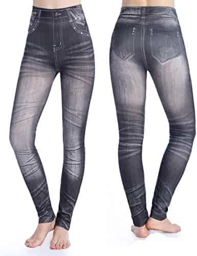 b063478d9f9 Hioffer Women s Skinny Jean Leggings High Waisted Stretch Slim Denim  Seamless Super Comfy Jeggings