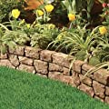 "Gardeneer Stonewall Faux Stone Border Edge, Tan, 117""L x 6""H"