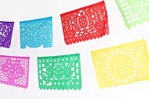 MesaChic Mexican Paper Picador Banner, Multicolor, Large Paper -