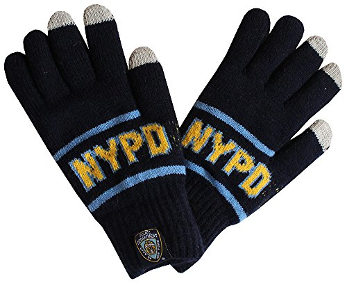 Robin Ruth NYPD Winter Adult Fleeced Thick Knitted Gloves (Robin Adult Gloves)