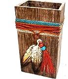 Southwest Feather VASE