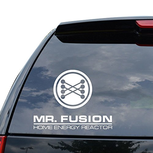 MR FUSION REACTOR BACK TO THE FUTURE Decal Sticker Car Truck Motorcycle Window Ipad Laptop Wall Decor - Size (05 inch / 13 cm Wide) - Color (Gloss BLACK)