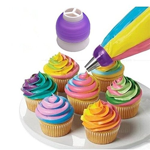3-Color Coupler Icing Piping Bag Nozzle