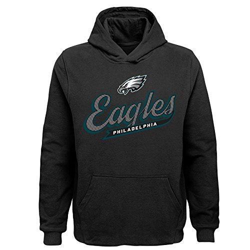 Outerstuff NFL Philadelphia Eagles Kids & Youth Boys Pioneer Sueded Fan Classic Hoodie, Black, Youth Small(8)