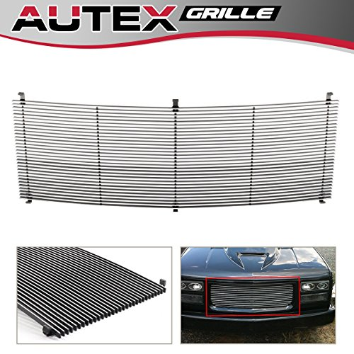 AUTEX Polished Aluminum Billet Grille Compatible with GMC C/K Pickup,Suburban,Yukon 1994 1995 1996 1997 1998 1999 Grill Insert G85012M ()