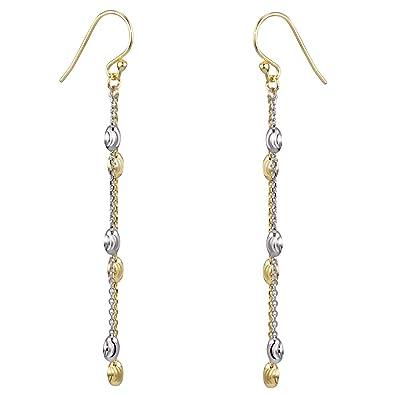 Elegante Ohrhänger Silber925 vergoldet Zirkonia und Perlmutt Ohrstecker Gold