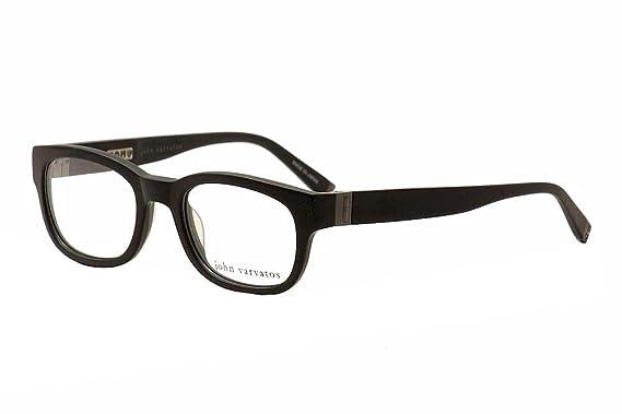 Amazon.com: John Varvatos Men\'s Eyeglasses V337 V/337 Black Full Rim ...