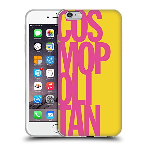 Official Cosmopolitan Pink Stacked Logo Soft Gel Case for Apple iPhone 6 Plus / 6s Plus