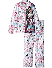 Monster High Girls' Coat Style Flannel Pajama Set, Sizes 4-12