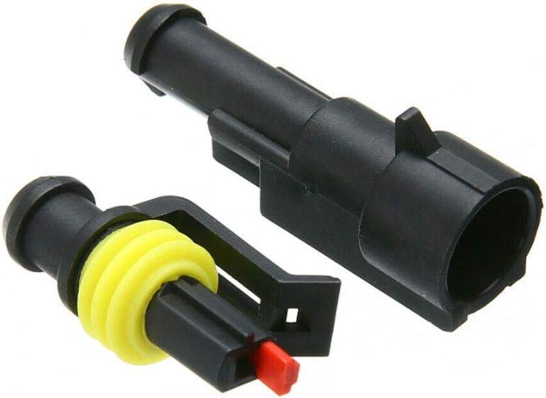 Mintice 10 X 5 Broche Voiture de fa/çon Automatique /étanche imperm/éable connecteur /électrique kit de Prise de Courant avec du Fil AWG de Calibre Marin