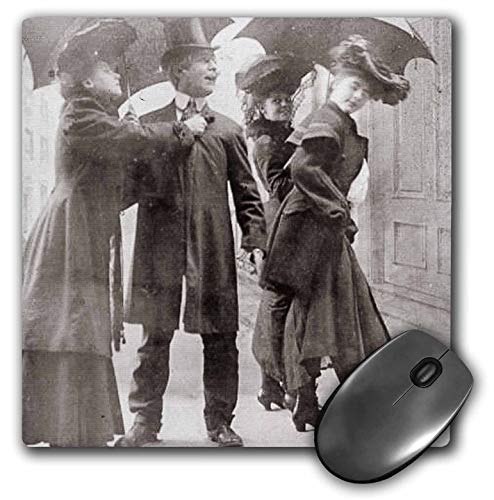 3dRose Scenes from The Past - Stereoview - Late 1800s Comic Stereoview The Distracted Husband Vintage Humor - Mousepad (mp_301250_1) from 3dRose